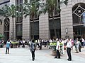 HK Sheung Wan 上環 新紀元廣場Grand Millennium Plaza lunch time Visitors COSCO Tower 永樂街 Wing Lok Street June-2012.JPG