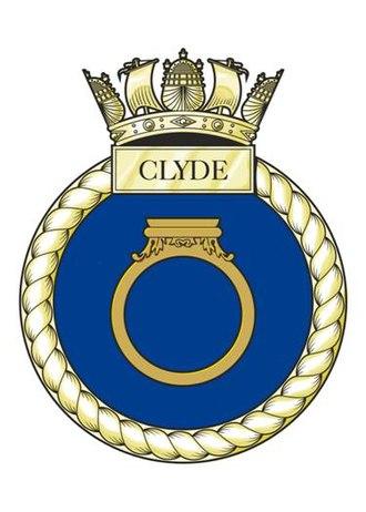 HMS Clyde (P257) - Image: HMS Clyde Crest