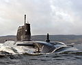 HMS Astute Arrives at Faslane for the First Time MOD 45150807.jpg