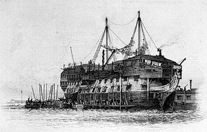 HMS York (1807) as a prison ship.jpg