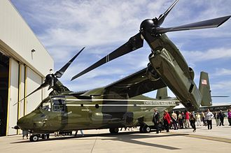 HMX-1 - A MV-22B is presented at an Introduction Ceremony in the HMX-1 hangar