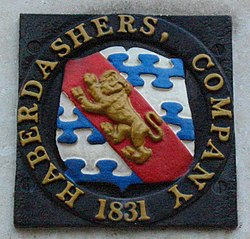 Haberdashers' Company plaque London.jpg