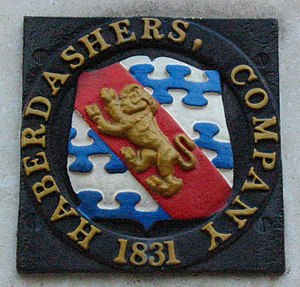 Worshipful Company of Haberdashers - An 1831 heraldic property mark of the Haberdashers' Company