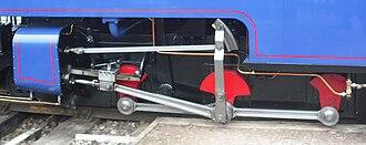 Perrygrove Railway - Lydias Hackworth valvegear