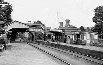 Hagley - The railway station at Hagley, an Edwardian postcard