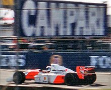 Photo de la McLaren MP4/9 de Häkkinen à Silverstone en 1994