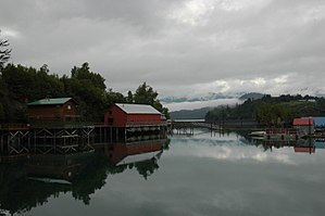 Halibut Cove, Alaska - Halibut Cove contains the local harbor and many visitor-related businesses