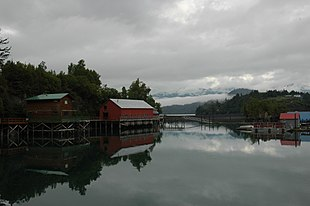 Halibut Cove Lagoon contains the local harbor and many visitor related businesses