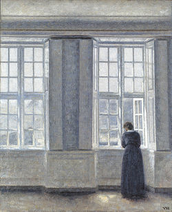 HAMMERSHØI Vilhelm The Tall Windows 1913
