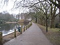 Hampstead Heath, Dam between Ponds Numbers 1 and 2 - geograph.org.uk - 1717685.jpg