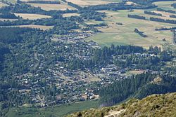 Hanmer Springs from Mount Isobel