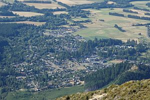Hanmer Springs - Hanmer Springs from Mount Isobel