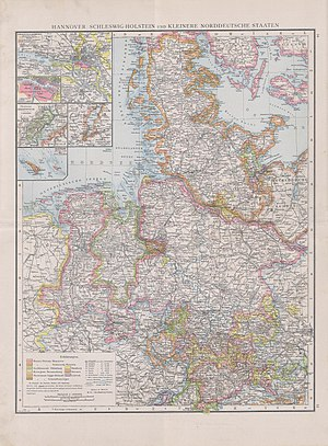 Province of Hanover - Hannover, Schleswig-Holstein and small Northern German States (1890)