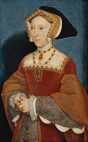 Artists of the Tudor court - Portrait of Jane Seymour by Holbein, 1536–37