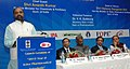 """Hansraj Gangaram Ahir addressing at the launch of the """"2015 – Year of Active Pharmaceutical Ingredients"""", in New Delhi on February 25, 2015. The Union Minister for Chemicals and Fertilizers, Shri Ananthkumar is also seen.jpg"""