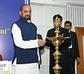 Hansraj Gangaram Ahir lighting the lamp to inaugurate the first National Conference on Drug Law Enforcement, organised by Narcotics Control Bureau (NCB), Ministry of Home Affairs, in New Delhi.jpg