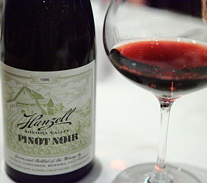 Pinot noir from the California producer Hanzel...