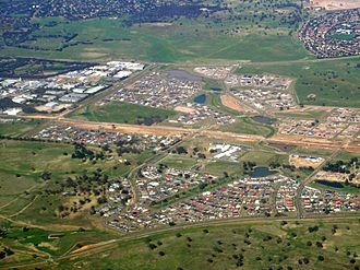 Harrison, Australian Capital Territory - Harrison and Franklin aerial view from north east