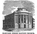 HarvardStBaptist Boston HomansSketches1851.jpg