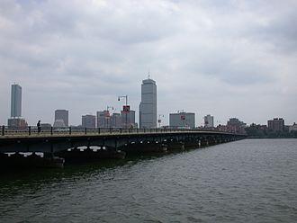 Smoot - The Harvard Bridge, looking towards Boston.