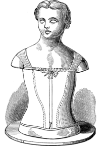 front view of bodice