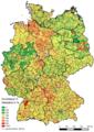 Hebesatz Grundsteuer A Deutschland 2014.png