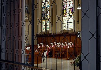 """Steyl - The """"Pink Sisters"""" in the chapel of their motherhouse in Steyl"""