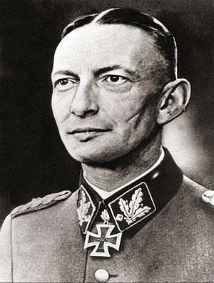 Gruppenführer - SS-Gruppenführer Heinz Reinefarth wearing the post-April-1942 rank insignia