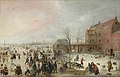 Hendrick Avercamp - A Scene on the Ice near a Town - WGA1075.jpg