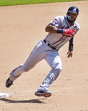 Jason Heyward - Heyward running the bases in 2014