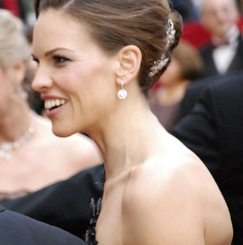 American actress Hilary Swank on the red carpe...