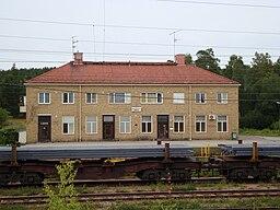 Hofors' jernbanestation, beliggende i Robertsholm.