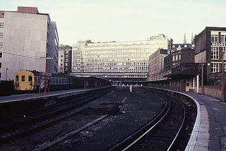 Holborn Viaduct railway station - Holborn Viaduct platforms in 1985