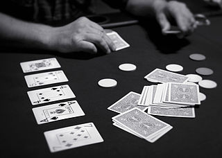 Bluff (poker) tactic in poker and other card games
