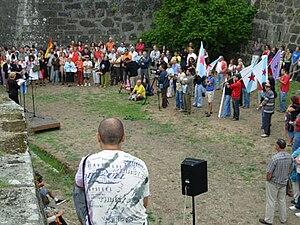 Português: Vista parcial do acto de homenagem ...
