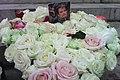 Hommage à Johnny Hallyday, bouquet de fleurs et photo.jpg