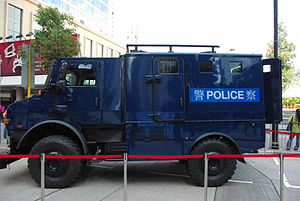 Special Duties Unit - Mercedes-Benz Unimog armored vehicle used by the SDU