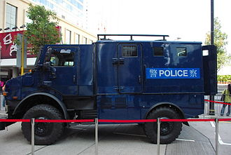 Special Duties Unit - Mercedes-Benz Unimog armoured vehicle used by the SDU