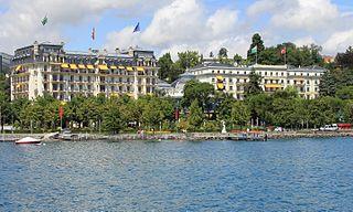 Beau-Rivage Palace luxury hotel in Lausanne, Switzerland