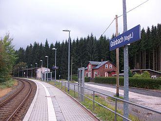 Grünbach, Saxony - Grünbach (Vogtl) railway platform