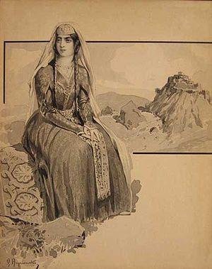 "Henryk Hryniewski - Kartlis Deda - ""Mother of Kartli"", a depiction of a Georgian woman by Henryk Hryniewski"