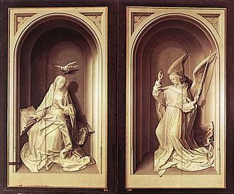 Dresden Triptych - Image: Hugo van der goes portinari triptych closed