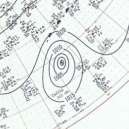 Hurricane Carrie surface analysis September 14 1957.jpg