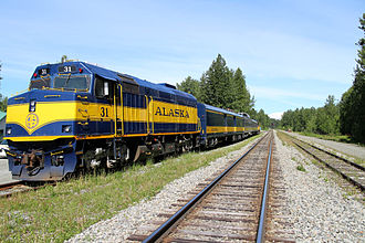 Alaska Railroad - Hurricane Turn Train at Talkeetna, AK in June 2015.