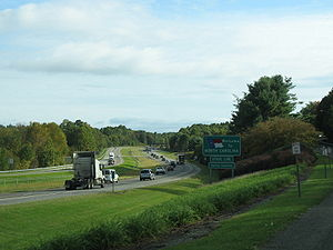 I-77 entering North Carolina from Virginia
