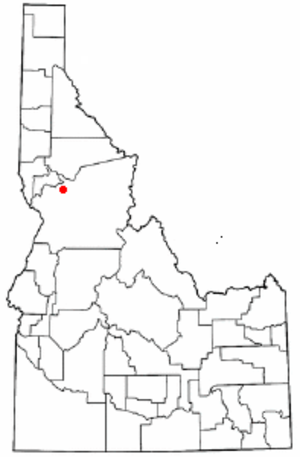Battle of the Clearwater - The location of the Battle of the Clearwater in Idaho.