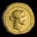 INC-1839-a Ауреус ок. 42 г. до н. э. Монетарий Гай Вибий Вар (аверс).png