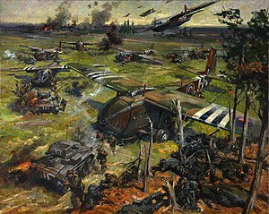 Terence Cuneo - Cuneo's depiction of a Second World War invasion scene