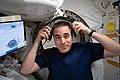 ISS-63 Cassidy inside Kibo laboratory module.jpg