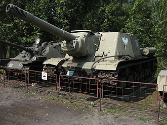 ISU-152 - ISU-152 tank destroyer at the Muzeum Polskiej Techniki Wojskowej in Warsaw.